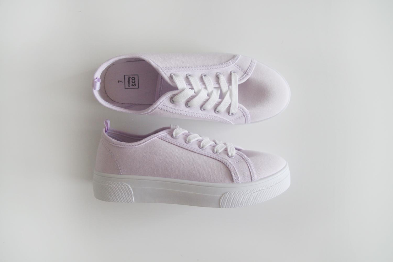 plain lilac sneakers