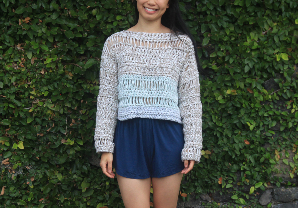 crochet crop sweater crochet pattern tutorial diy forthefrills for the frills sand dune sweater