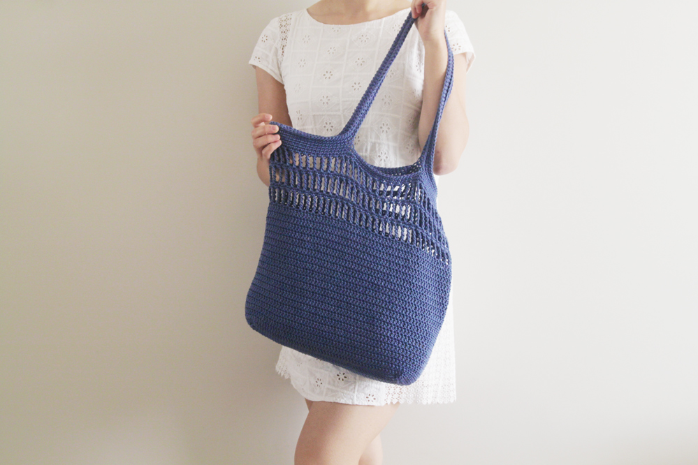 soho tote bag easy summer free crochet pattern