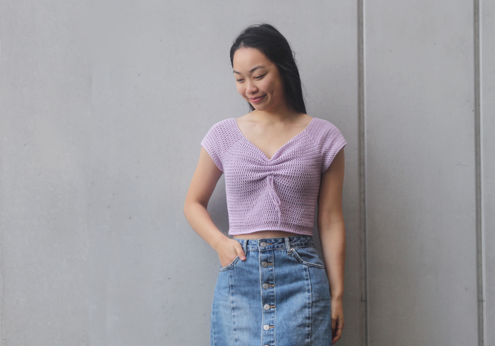 crochet crop top free pattern video tutorial summer diy magnolia tee t shirt for the frills