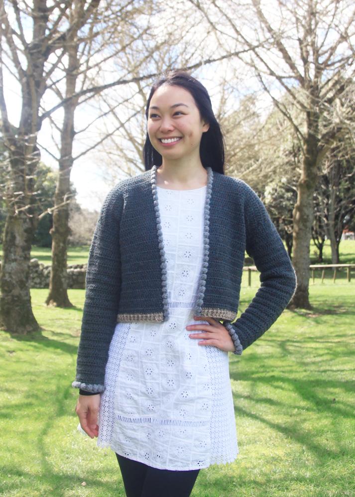 crochet crop cardigan lambswool free pattern video tutorial