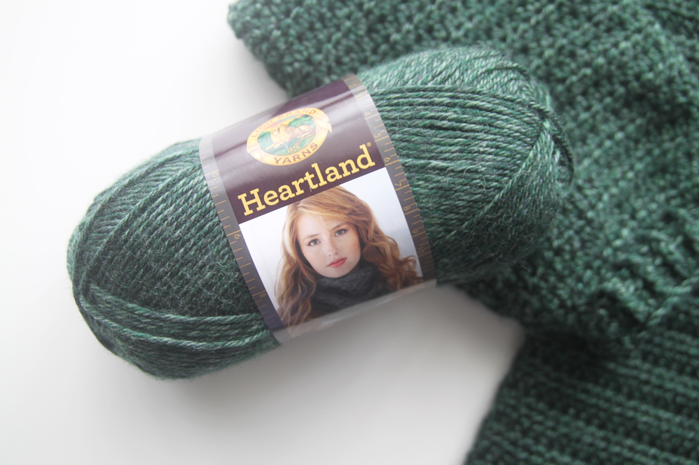 lion brand heartland yarn king's canyon aran worsted