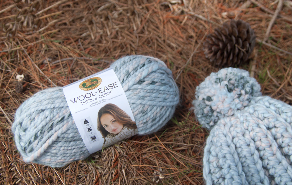 super chunky yarn lion brand wool ease thick and quick arctic ice