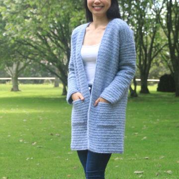 crochet cardigan coat with hidden pockets free pattern
