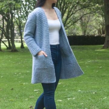hidden pocket coat crochet tutorial