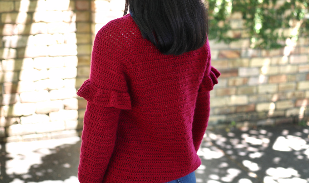 holiday sweater free crochet pattern top down pullover