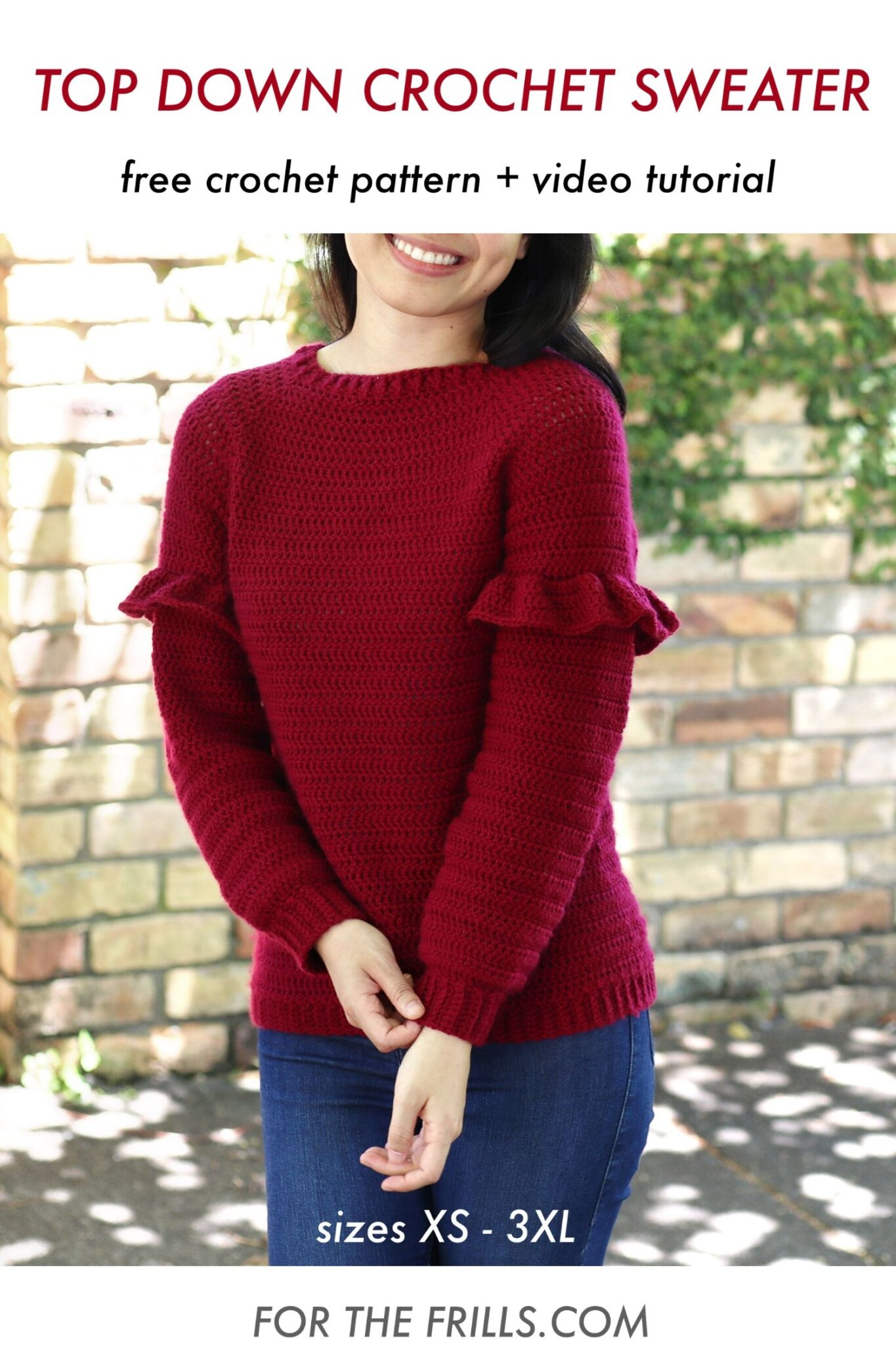 top down crochet sweater free crochet jumper pattern ruffles