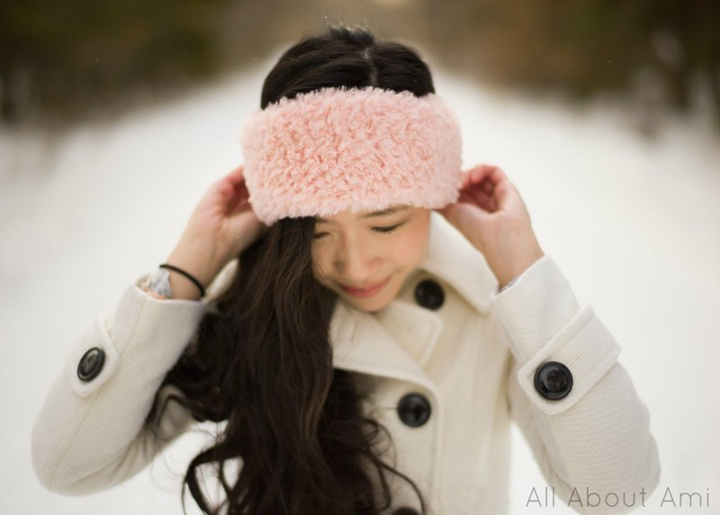 fluffy faux fur headband crochet diy