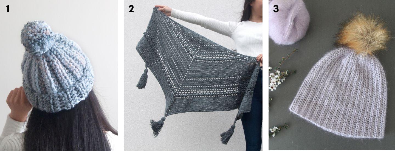 one hour crochet beanie tassel bobble crochet wrap shawl scarf mohair beanie pom pom