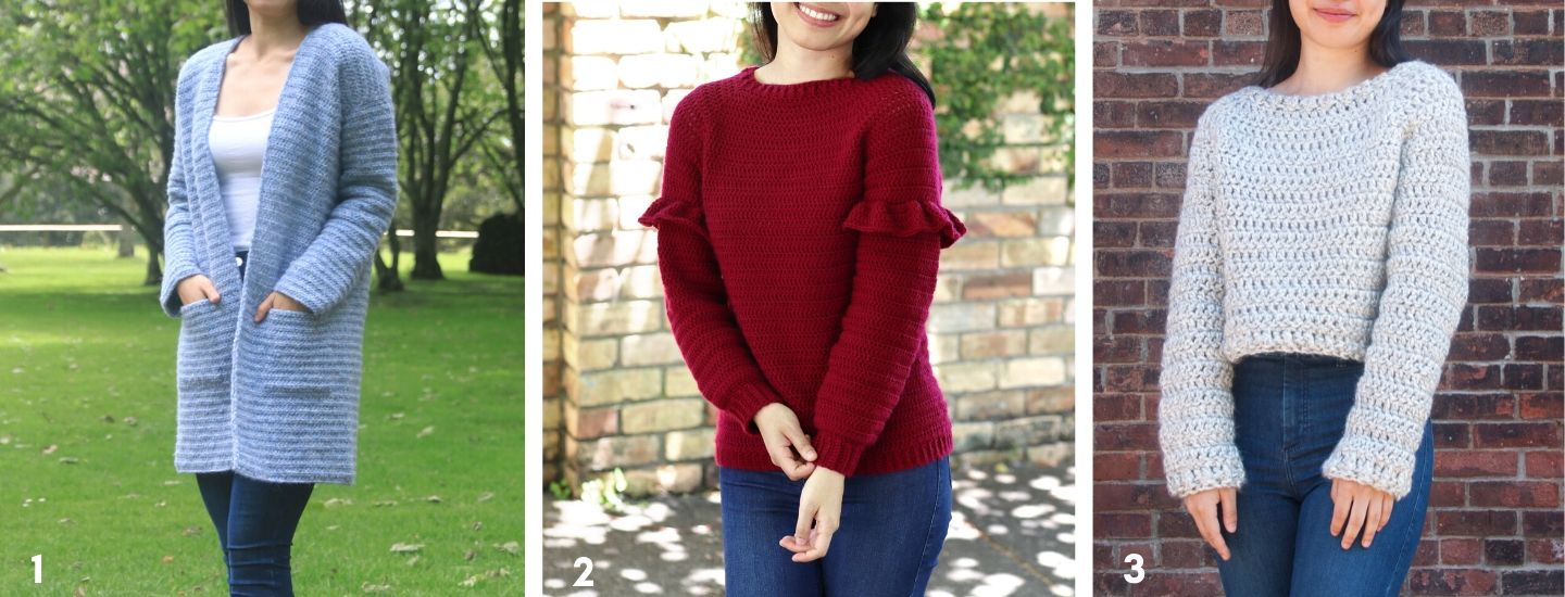 free crochet sweater patterns blue cardigan red ruffle sweater chunky grey pullover