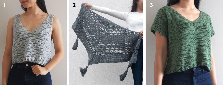 crochet cotton tank top bobble wrap scarf v neck top free patterns