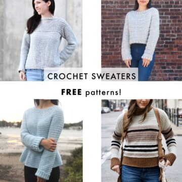easy free crochet patterns for winter sweaters