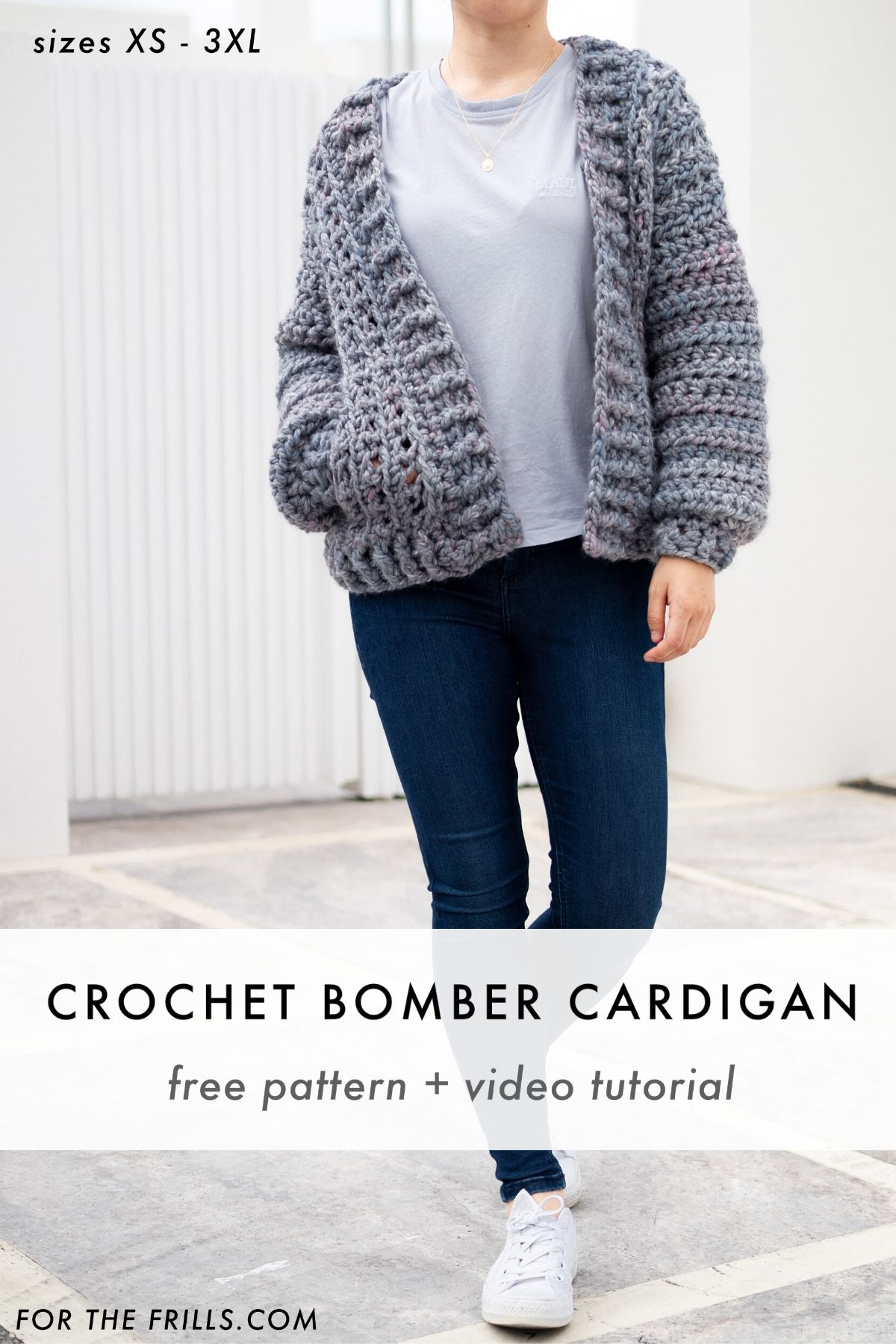 how to crochet a chunky cardigan with pockets free pattern pin