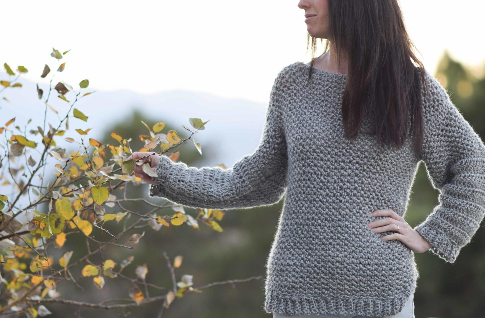 free pattern knit look crochet sweater