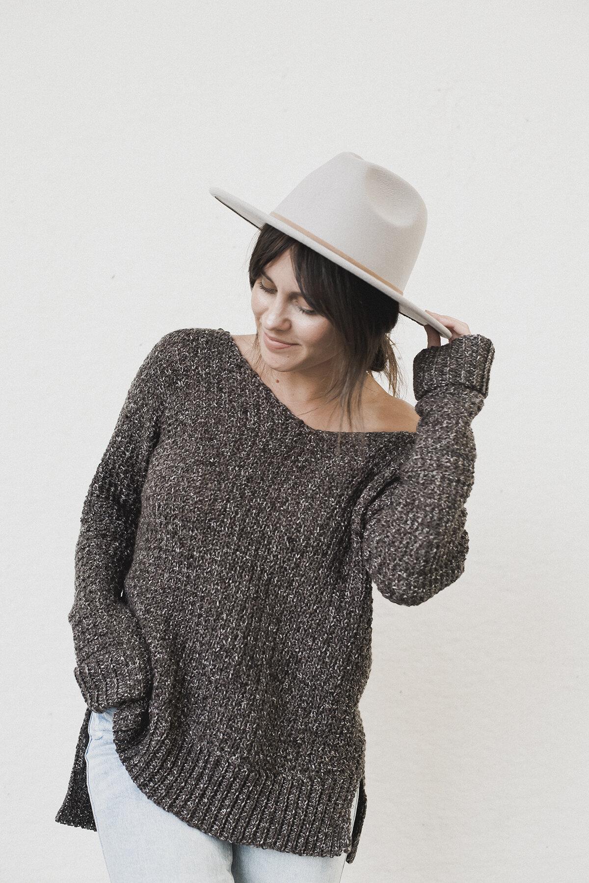 cosy crochet sweater free pattern