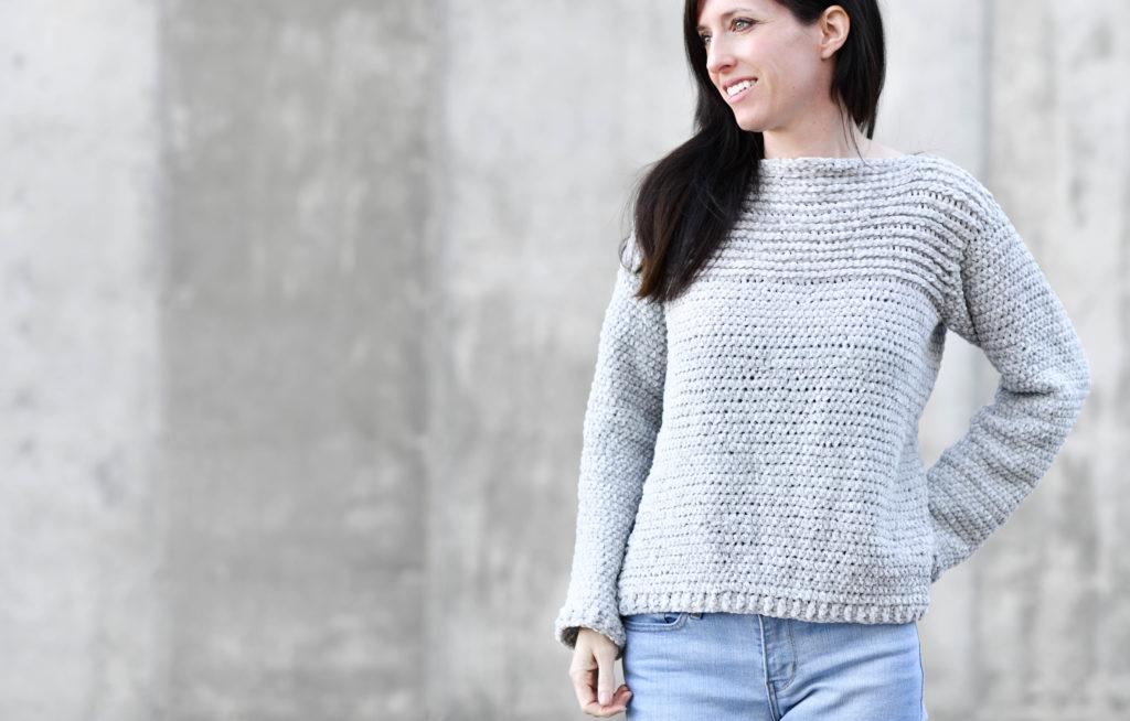 easy crochet sweater free pattern tutorial