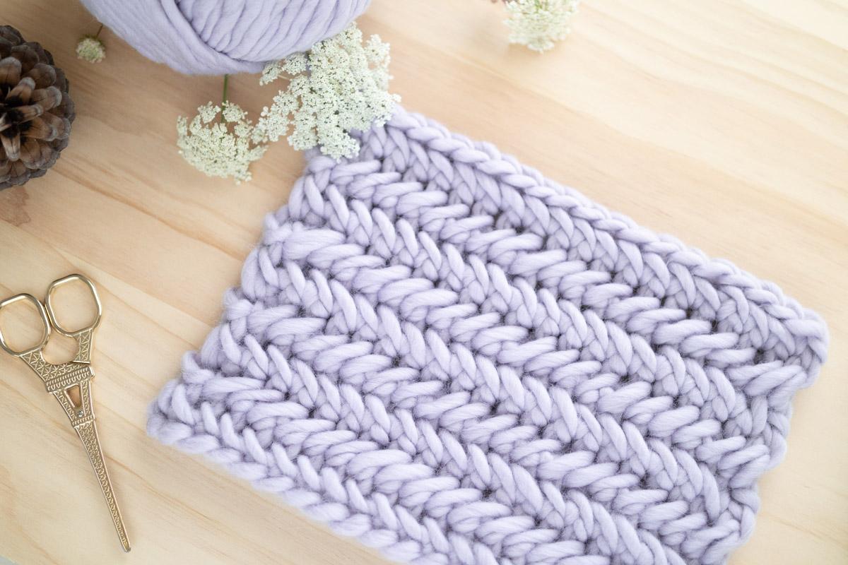 herringbone single crochet stitch tutorial step by step video