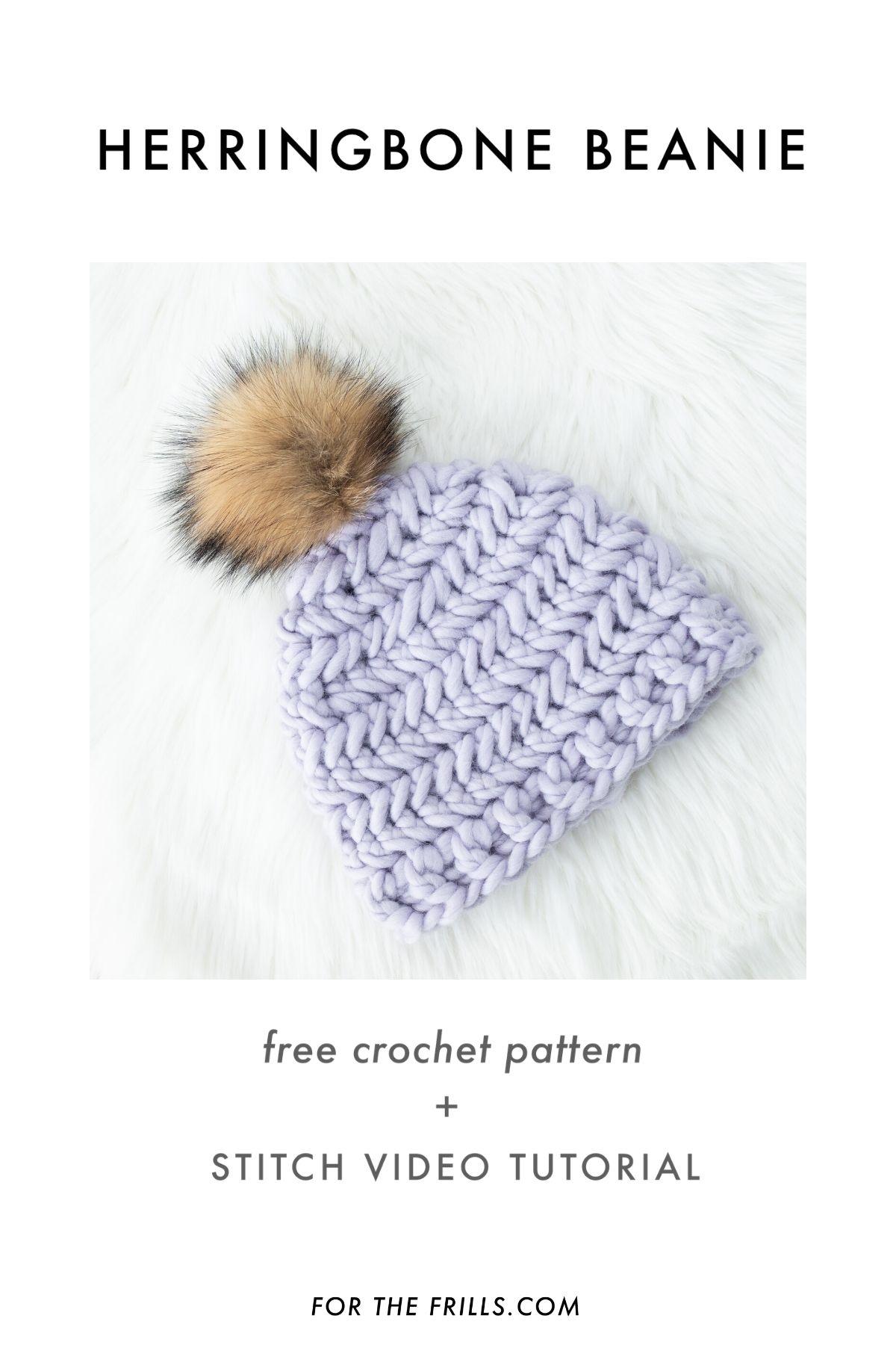 how to crochet a chevron stitch beanie free crochet pattern