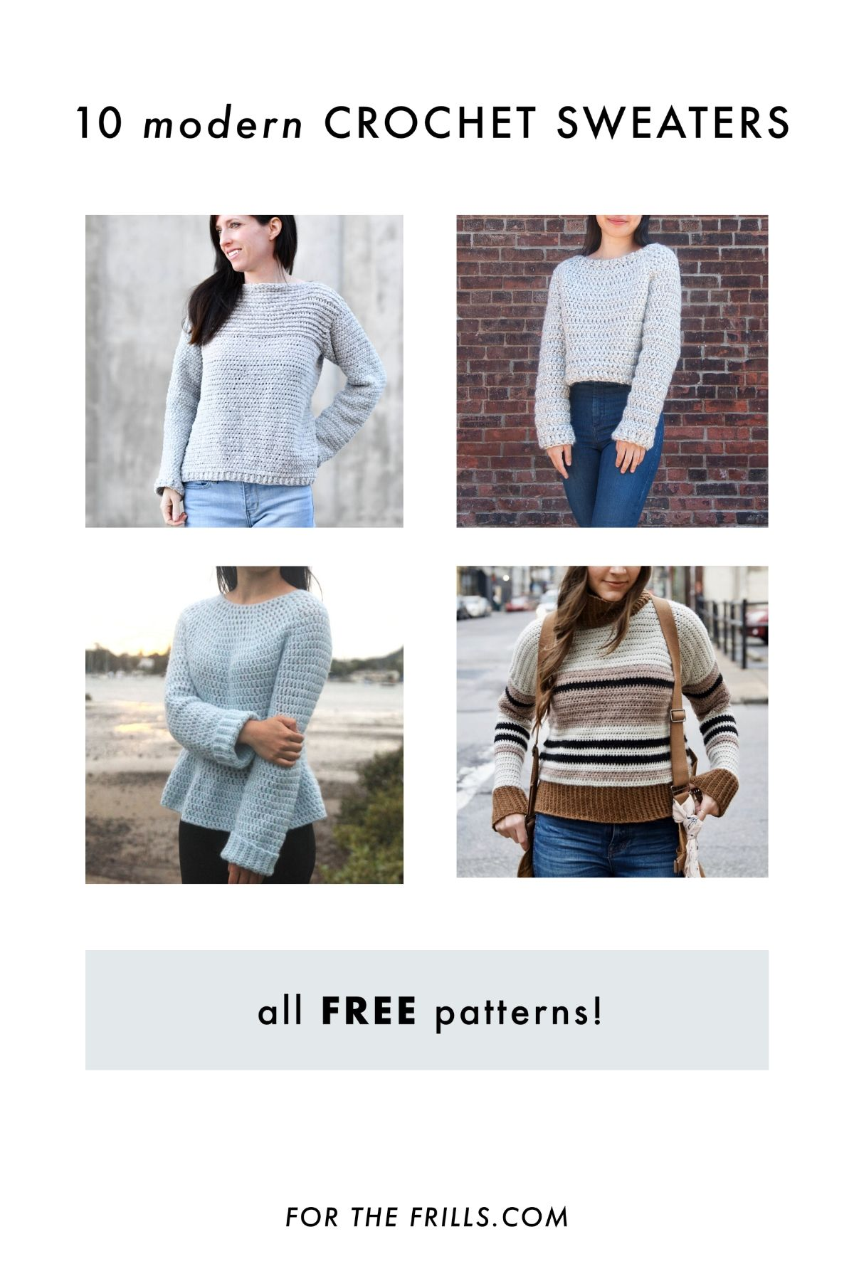 10 free crochet sweater patterns and tutorials pullovers and jumpers