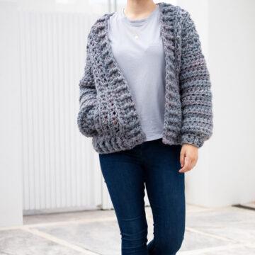 free crochet pattern chunky cardigan sweater