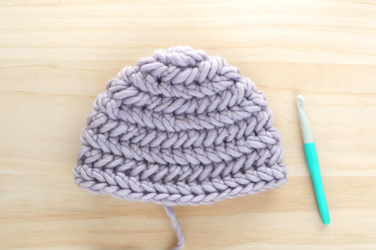 herringbone stitch hat chevron pattern 12mm clover crochet hook