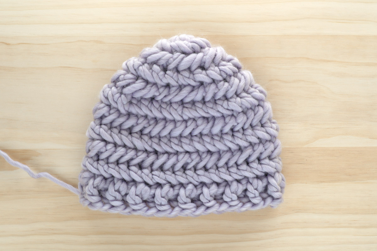 chevron stitch pattern crochet beanie front post back post double crochet ribbing