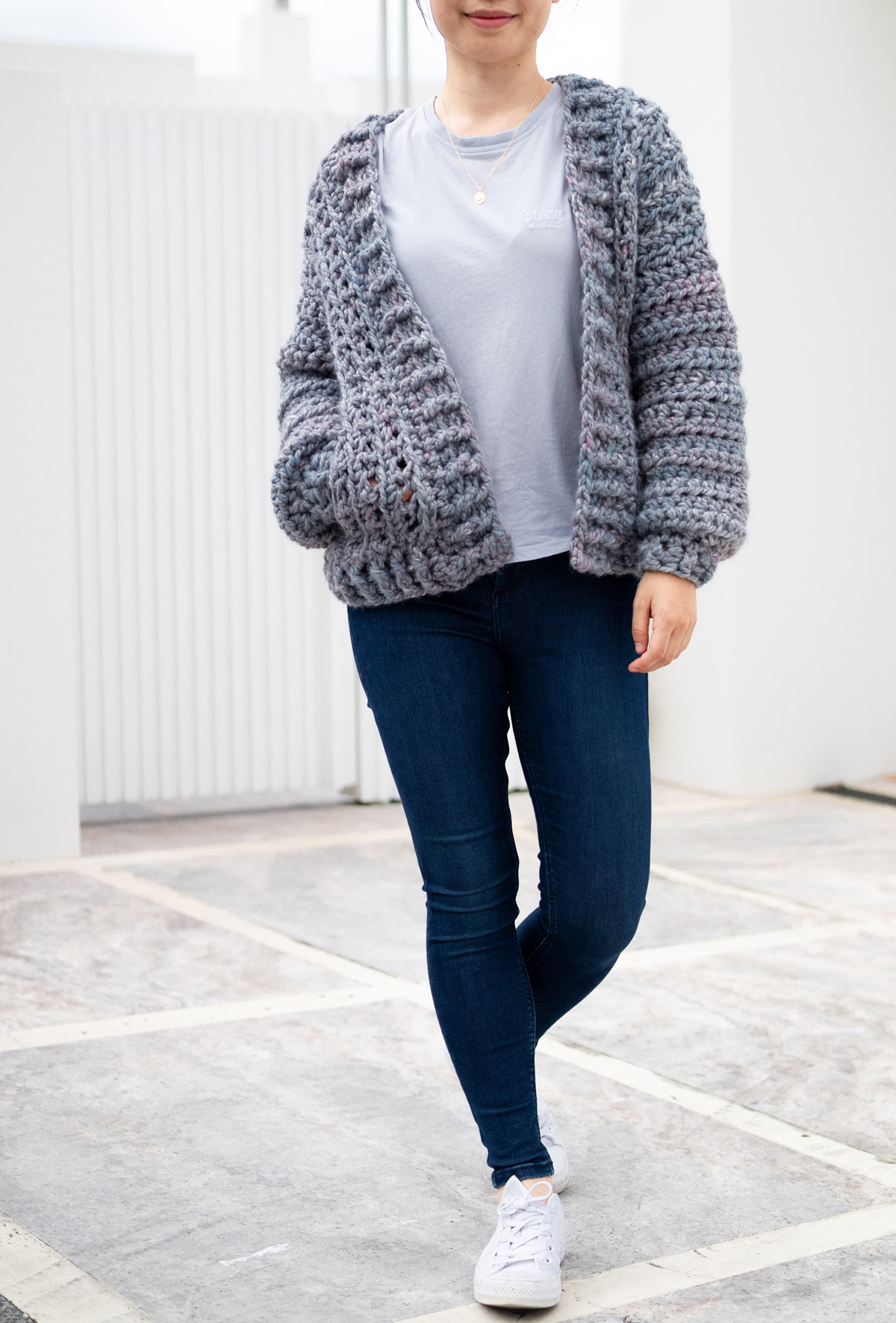 chunky bomber cardigan hidden pockets free crochet pattern