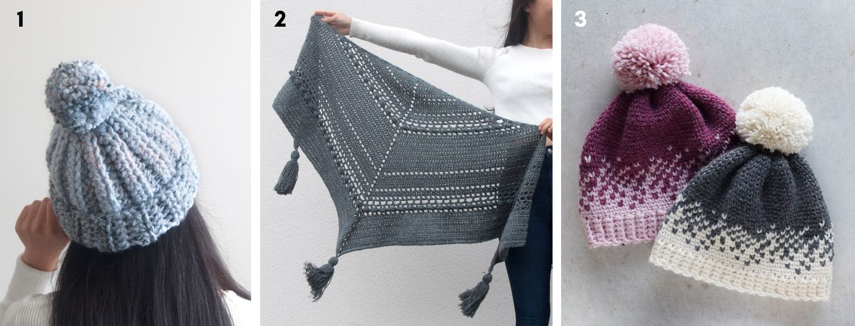chunky crochet beanie modern grey crochet wrap ombre crochet beanie