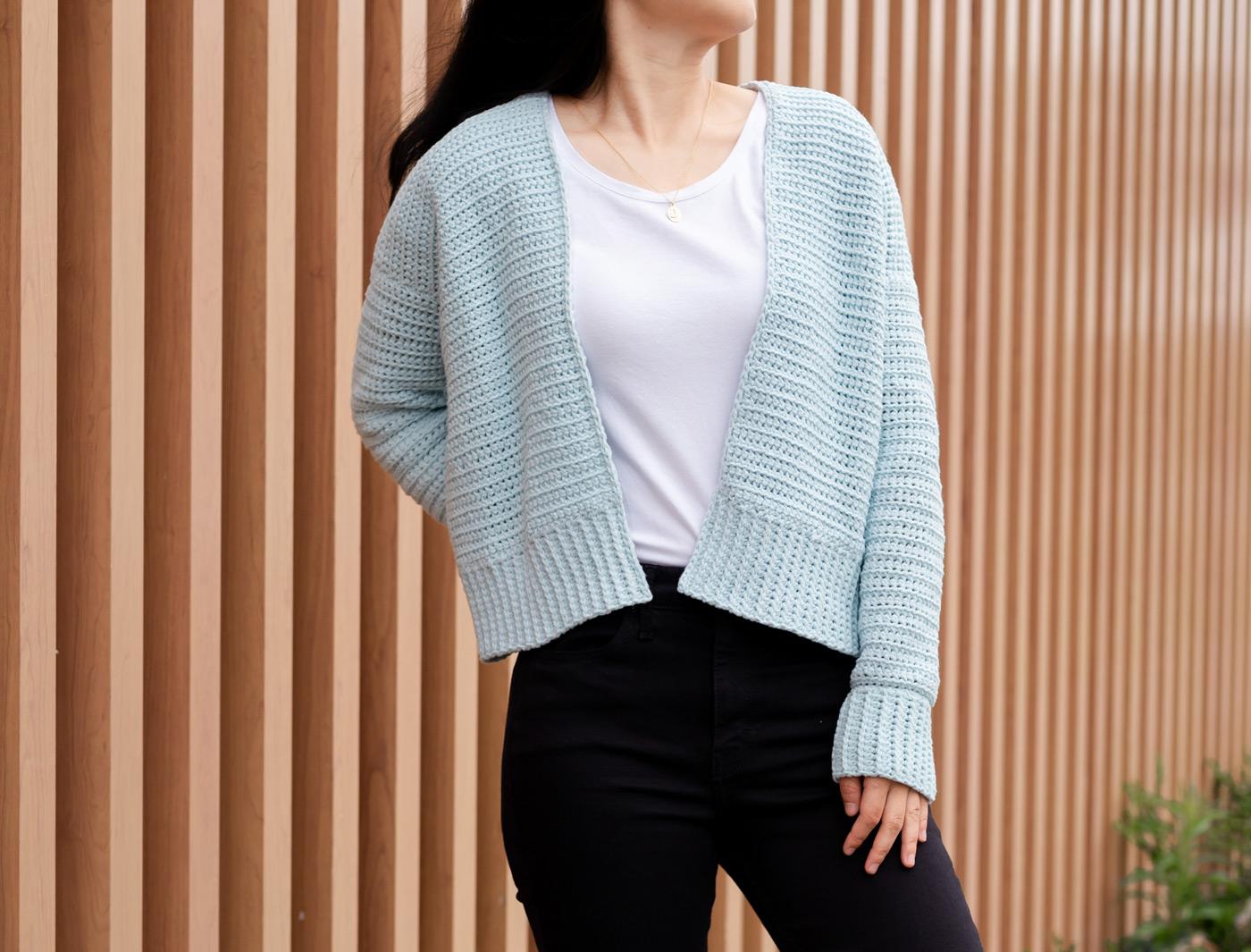 crop crochet cardigan free pattern tutorial