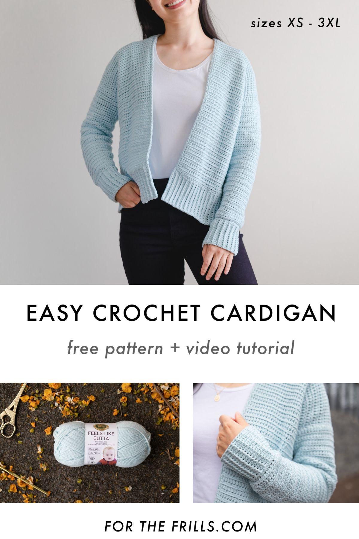 easy crochet pattern cardigan fall pinterest