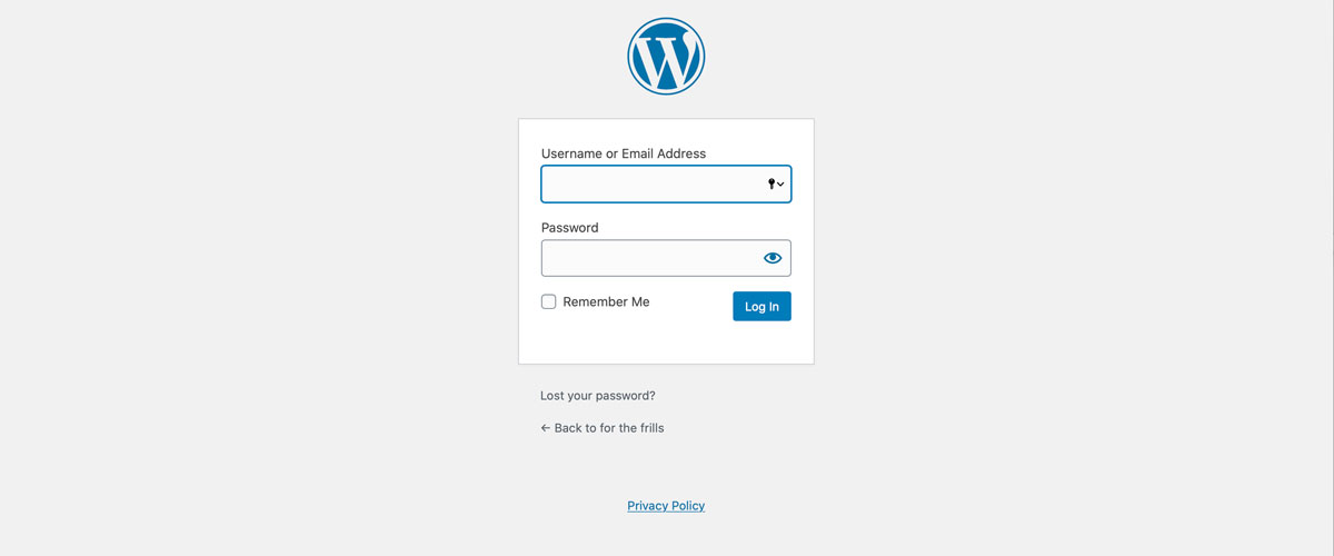 wordpress direct login tutorial