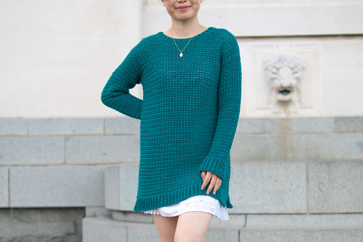 loose slouchy crochet pullover free pattern green sweater