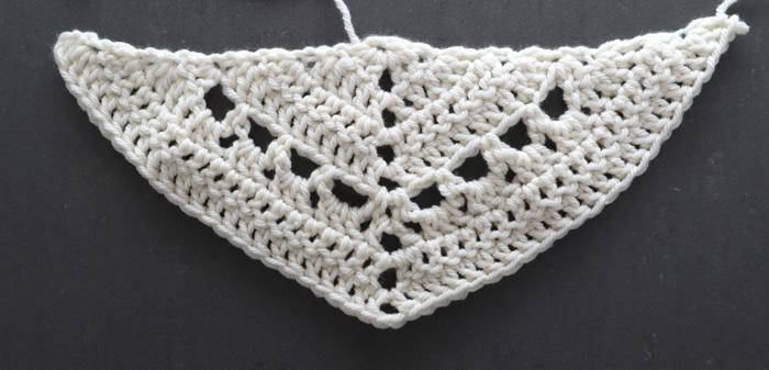 free crochet pattern spring wrap step 4