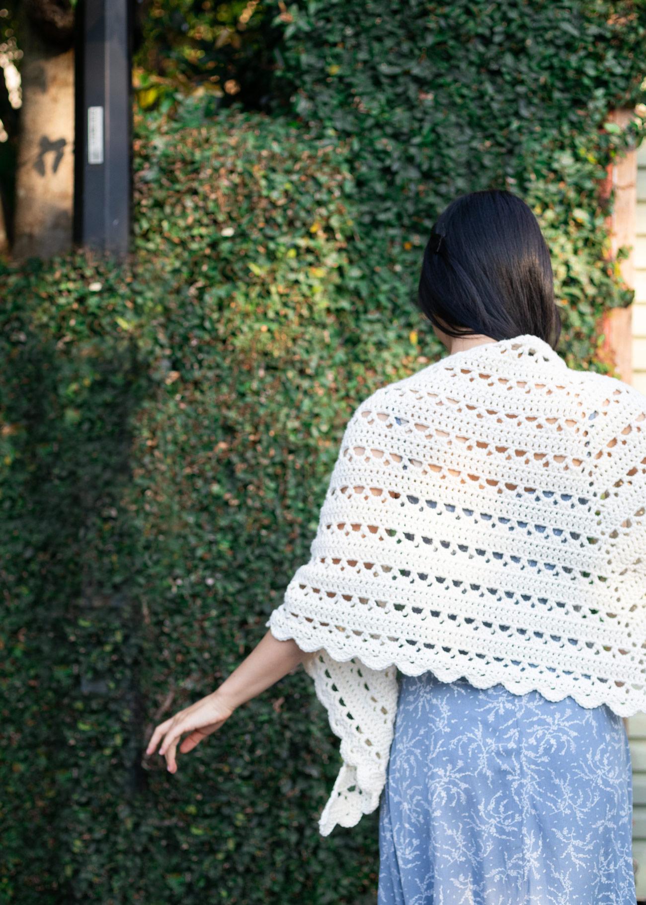 white lace crochet wrap free pattern light blue dress