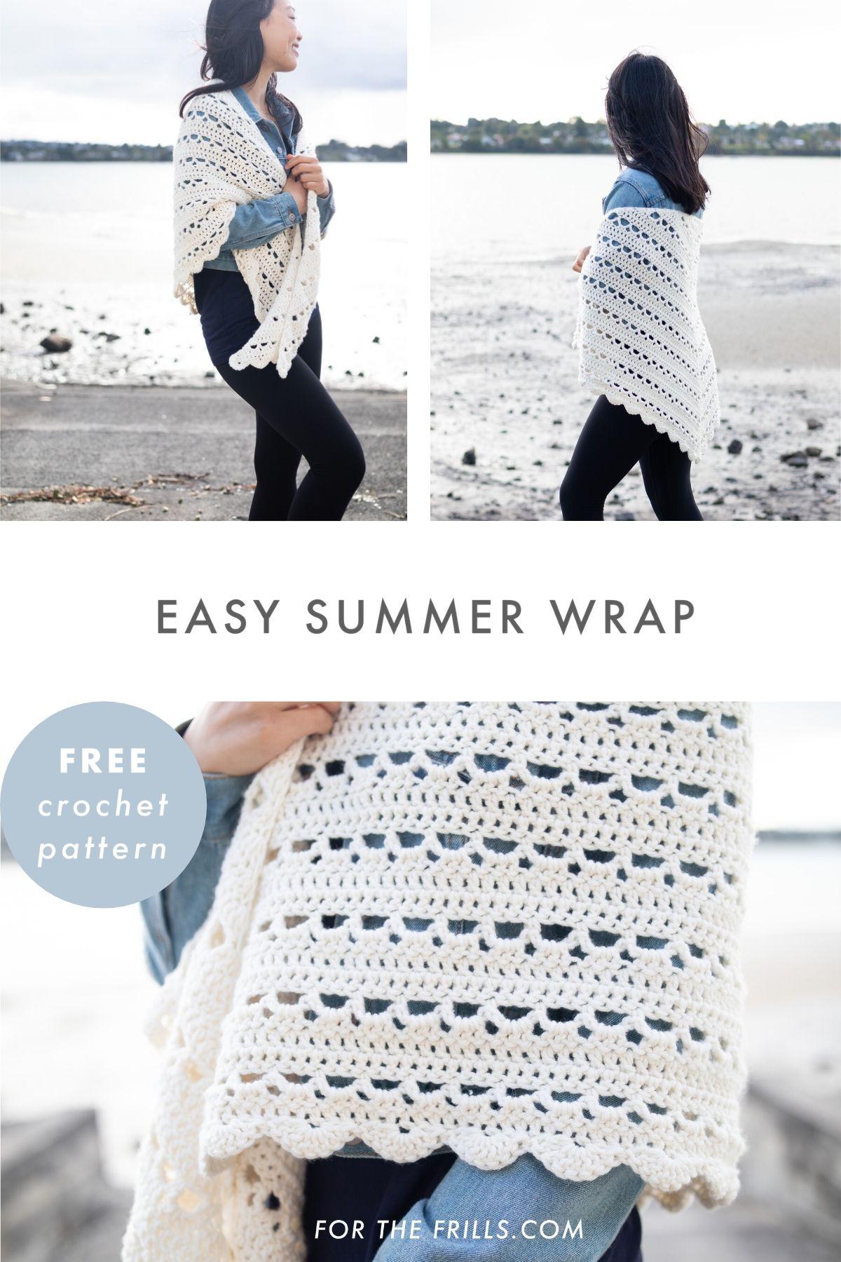 easy summer wrap free crochet pattern beginners