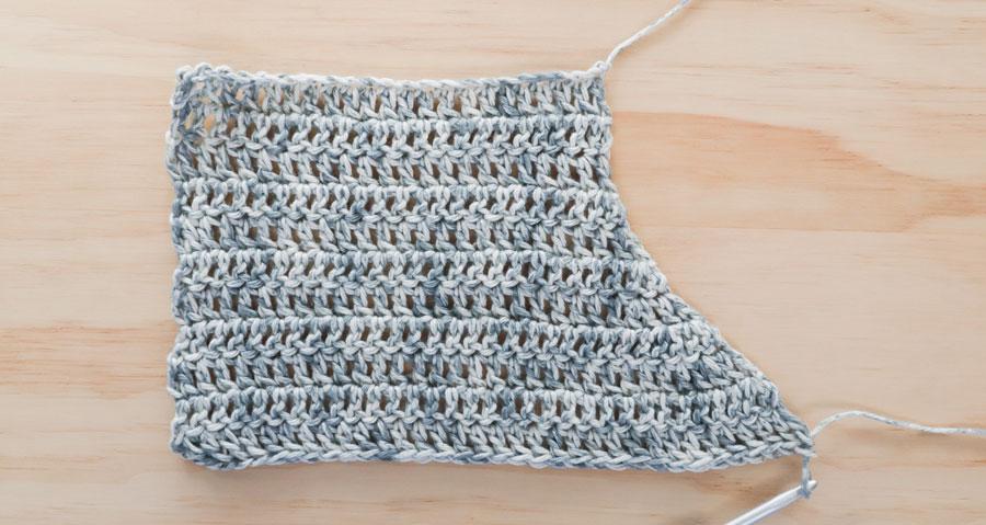 v neck crochet sweater v right side