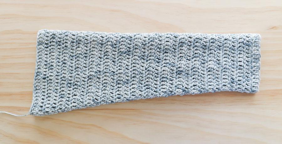 double crochet sleeve made from wecrochet cotton yarn