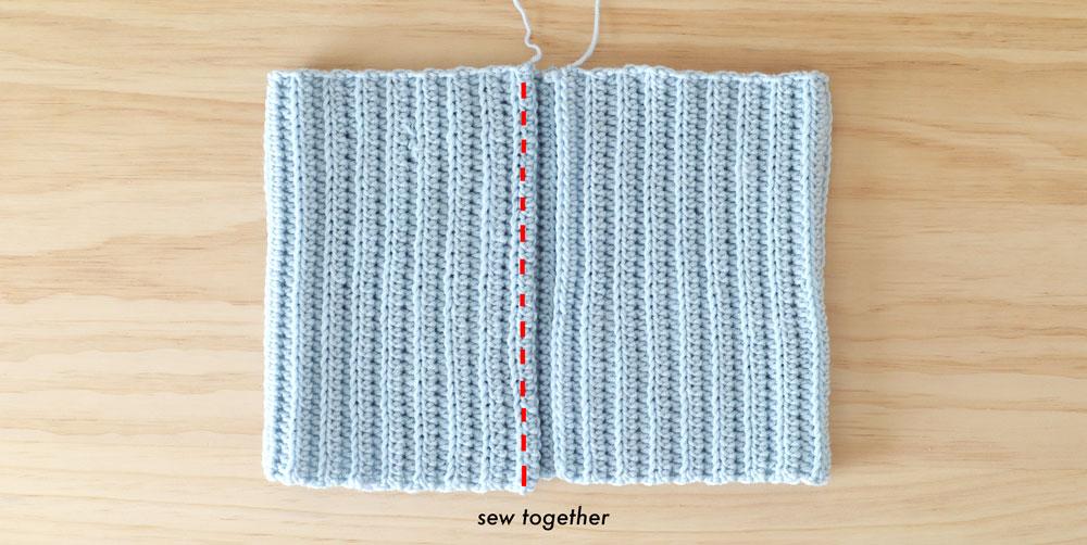 sew ribbed crop top closed free crochet pattern diy tutorial