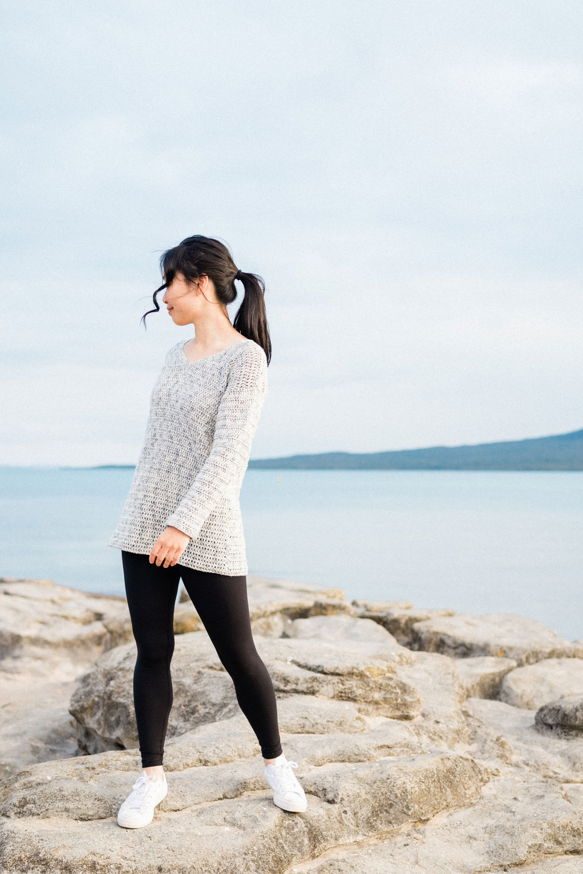 light cotton sweater free crochet pattern