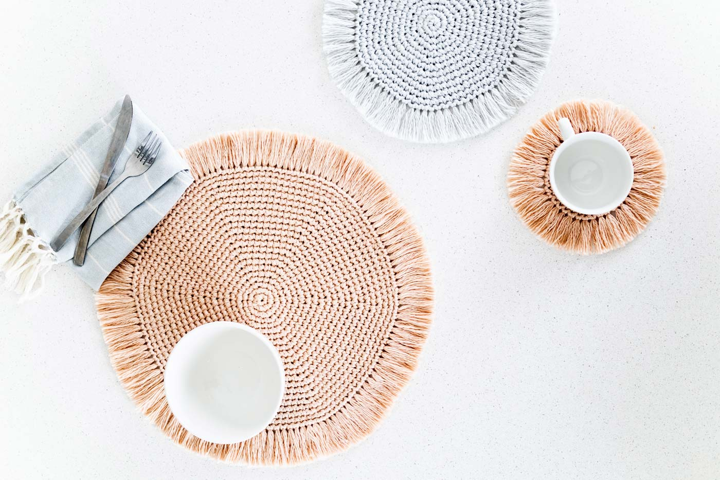 easy crochet placemats and coasters for beginners free pattern