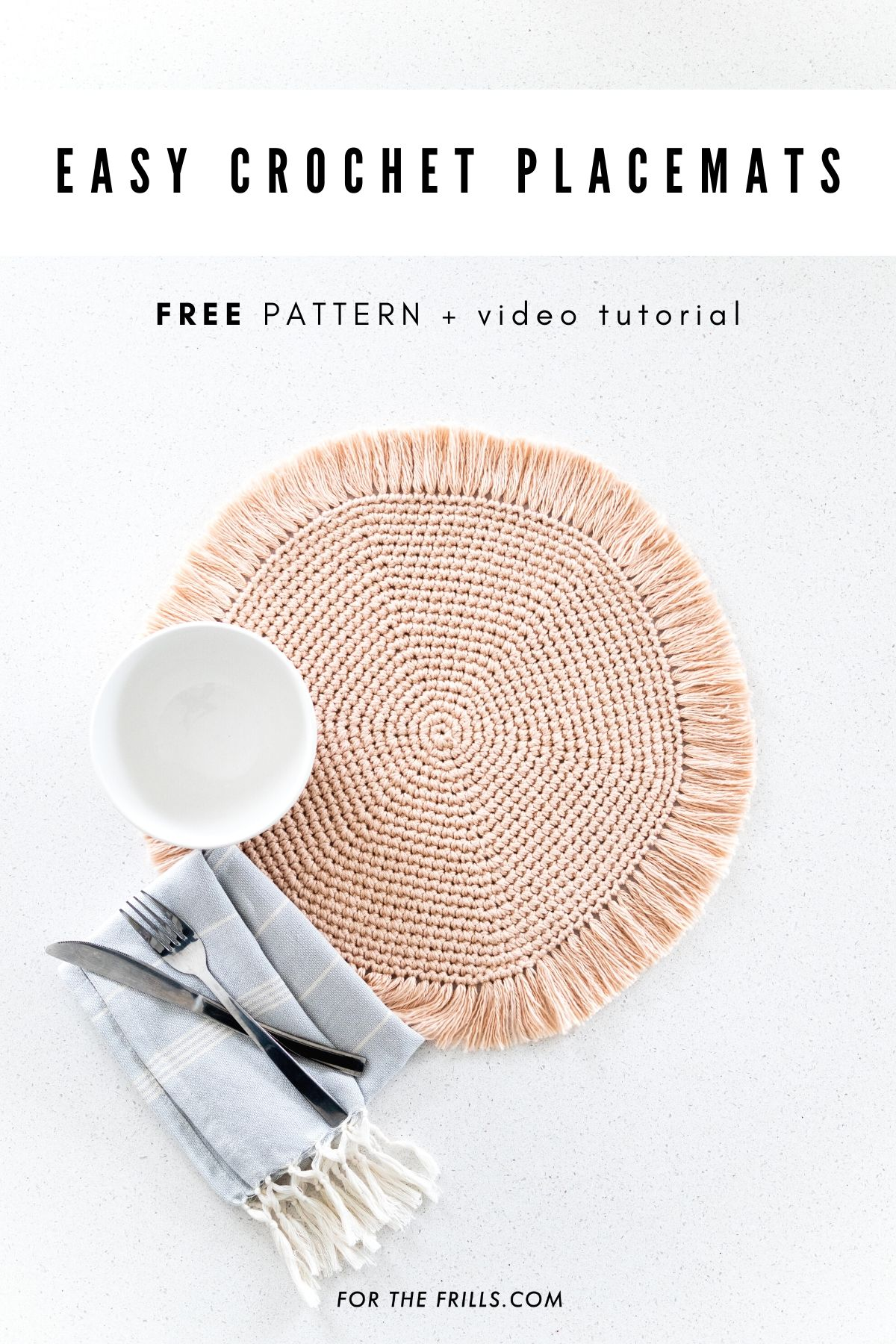 simple crochet boho chic placemats free pattern home decor