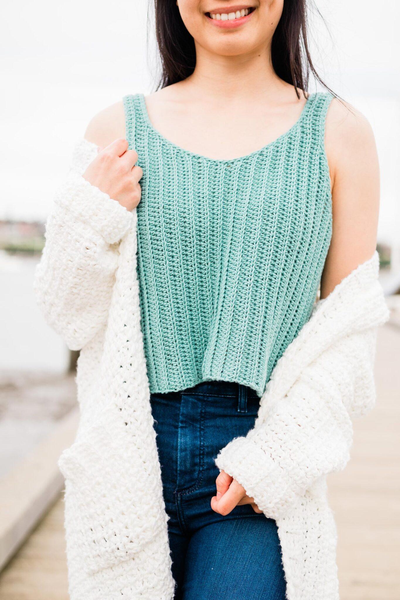 easy summer crochet tank top free pattern