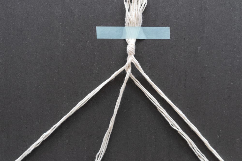 4 strand rope pull strands tight
