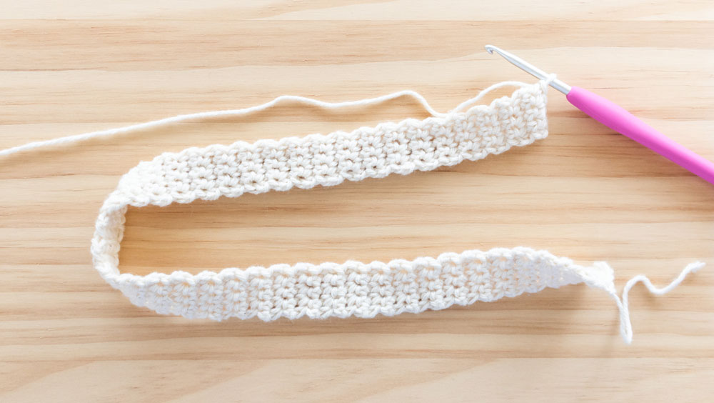 single crochet strap for top down crochet tank top and 3.75mm crochet hook