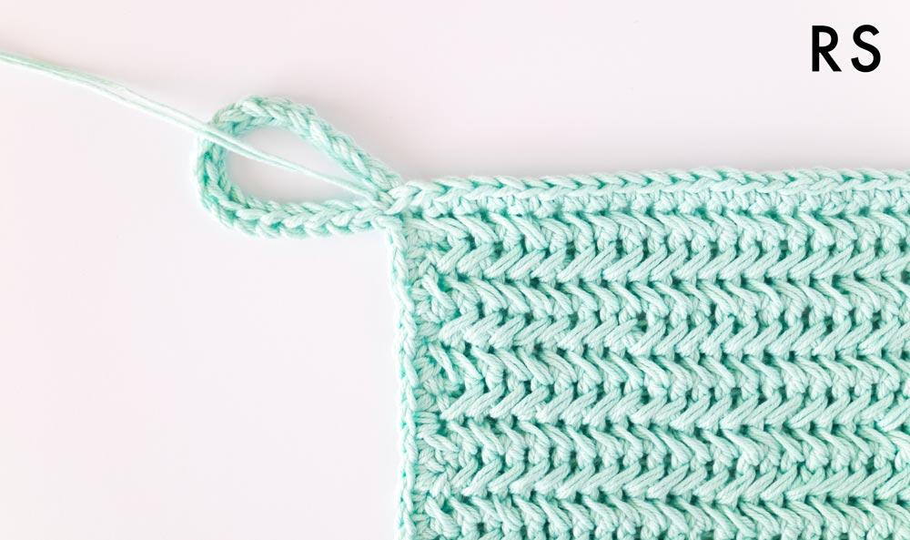 finished single crochet edging on pot holder