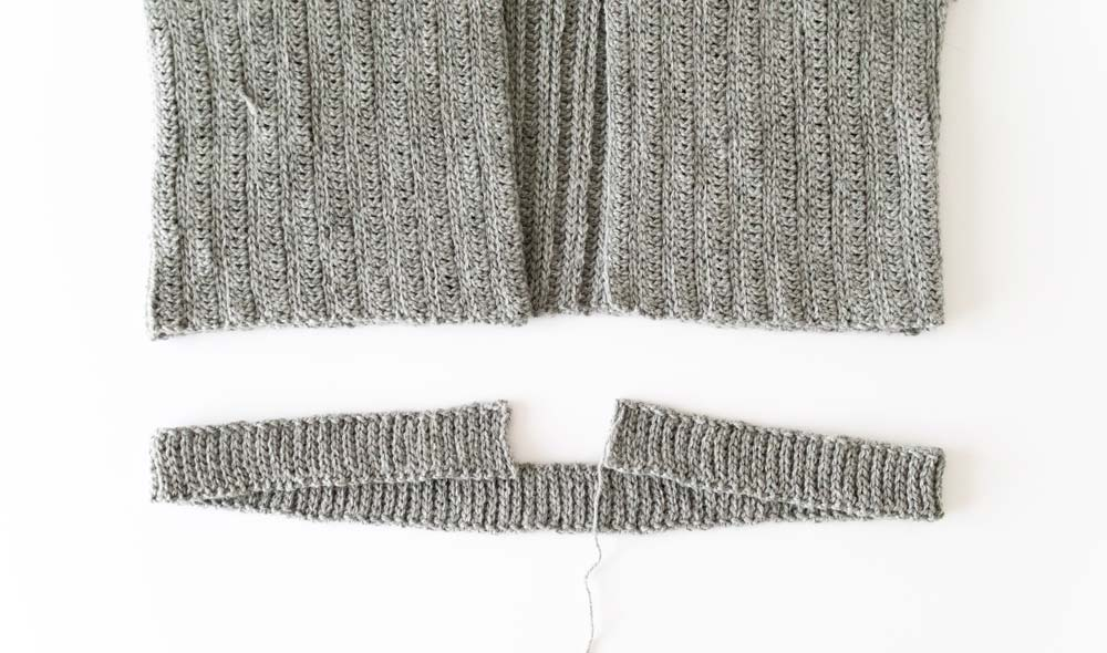 hemline back loop slip stitch ribbing crochet with knit look
