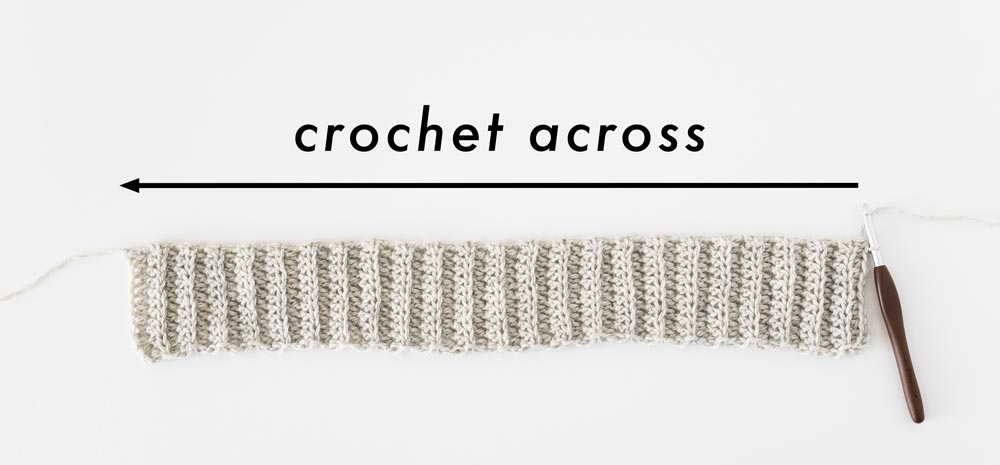 crochet along edge of back loop half double crochet ribbing